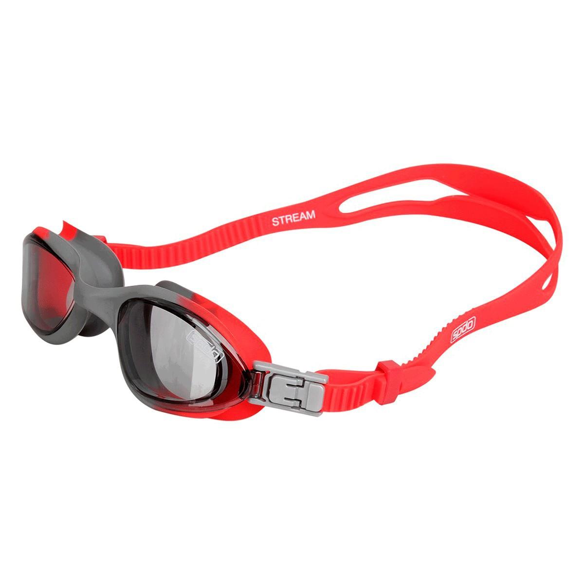 Óculos Mergulho Speedo Stream Vermelho Cinza