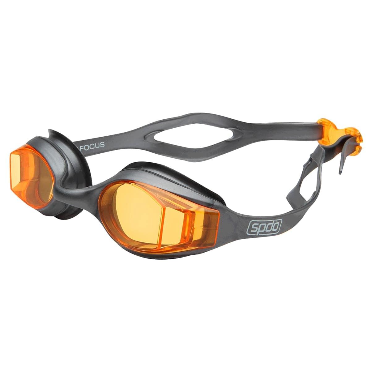 Óculos Natação Speedo Focus Laranja Cinza