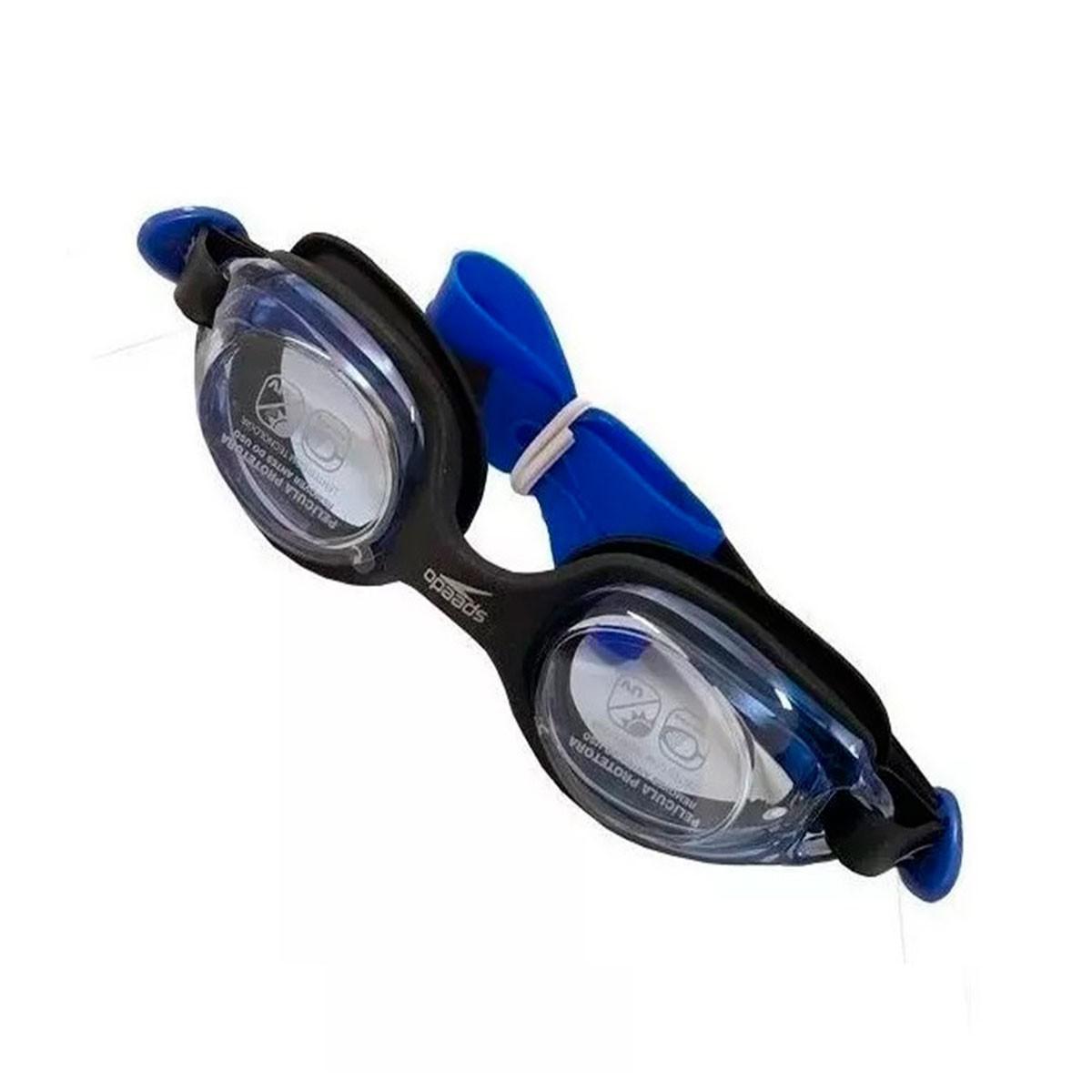 Óculos Natação Speedo Olympic Infantil Azul Preto