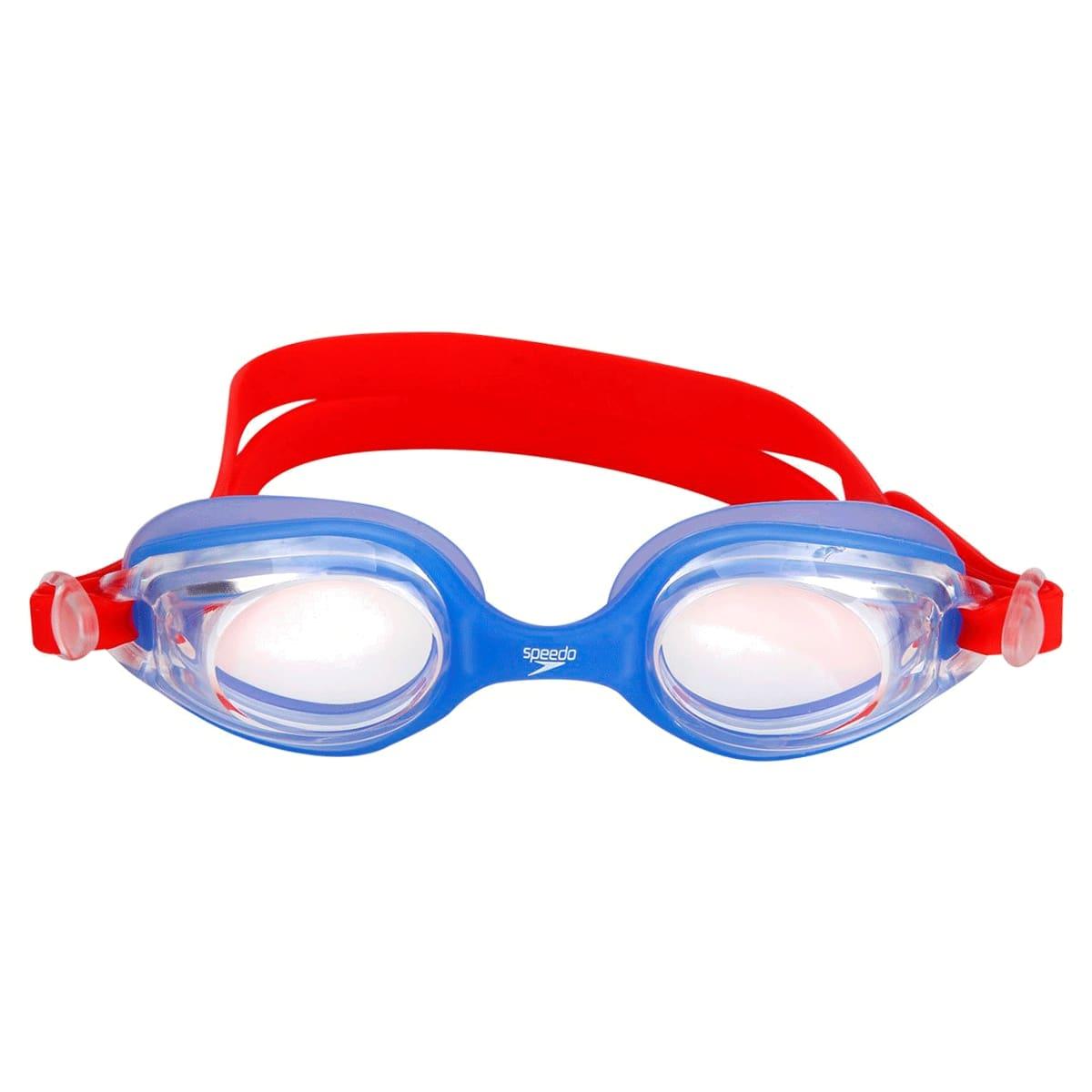 Óculos Natação Speedo Olympic Infantil Azul Vermelho