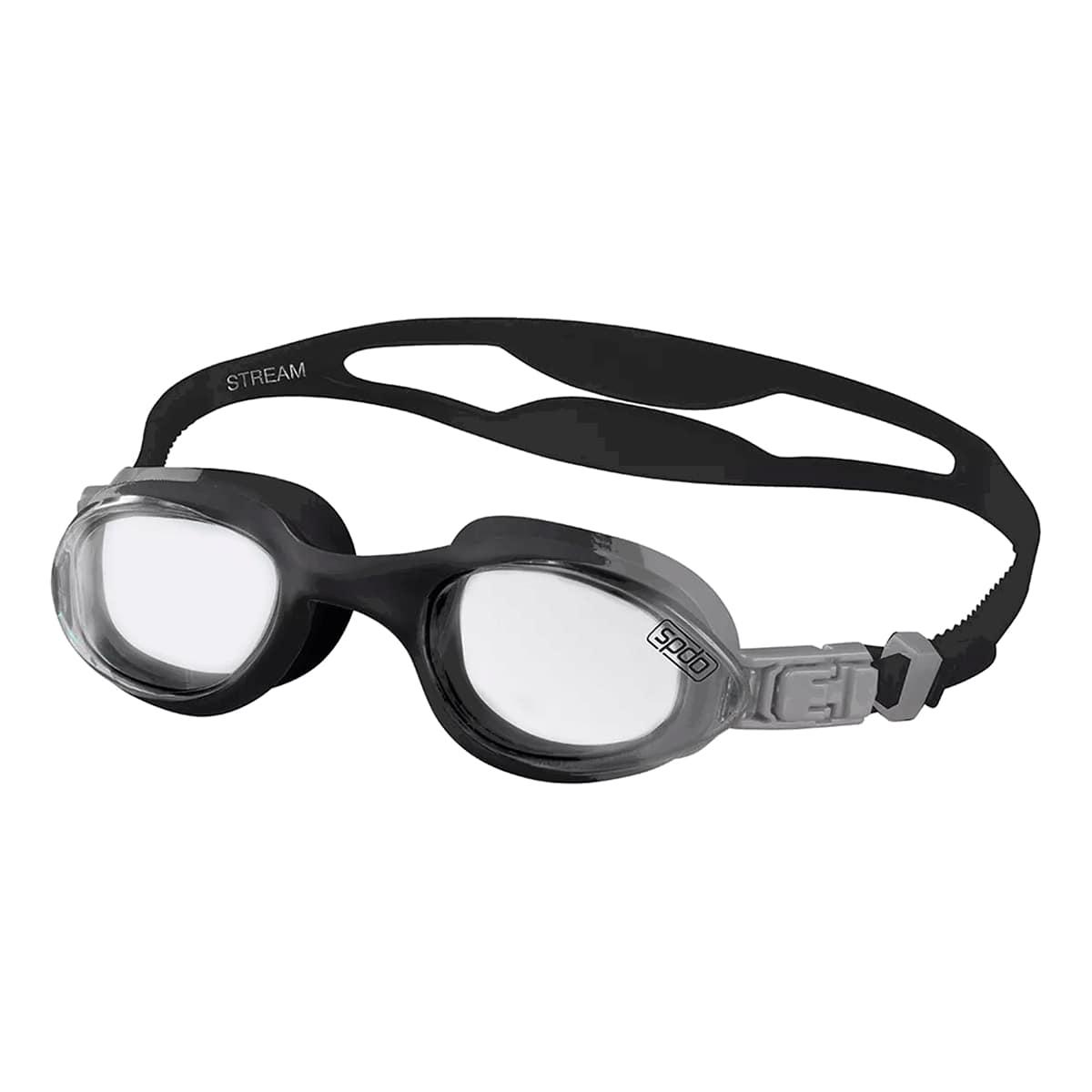 Óculos Natação Speedo Stream Preto Fumê