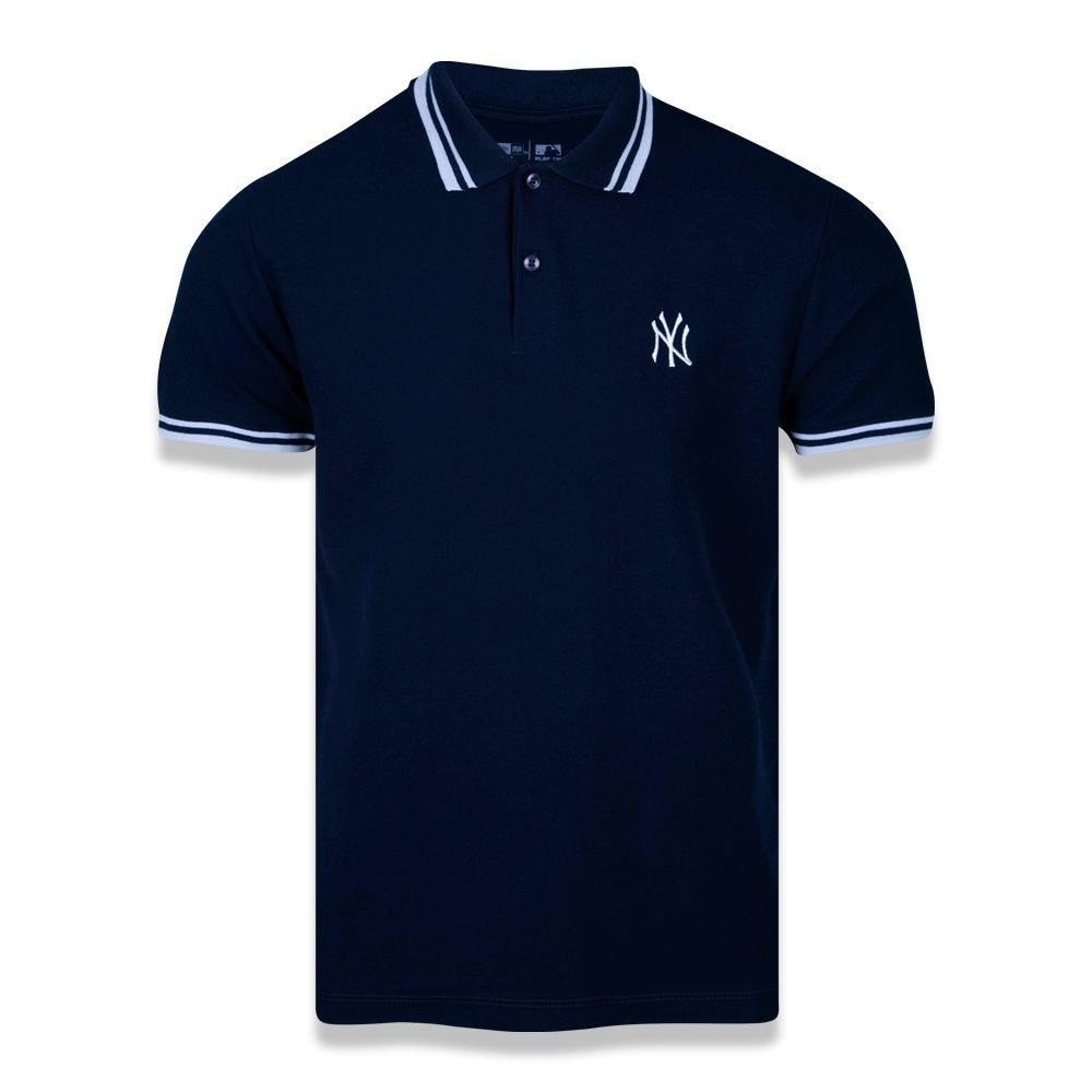 Polo New York Yankees Mlb Masculino  Marinho New Era