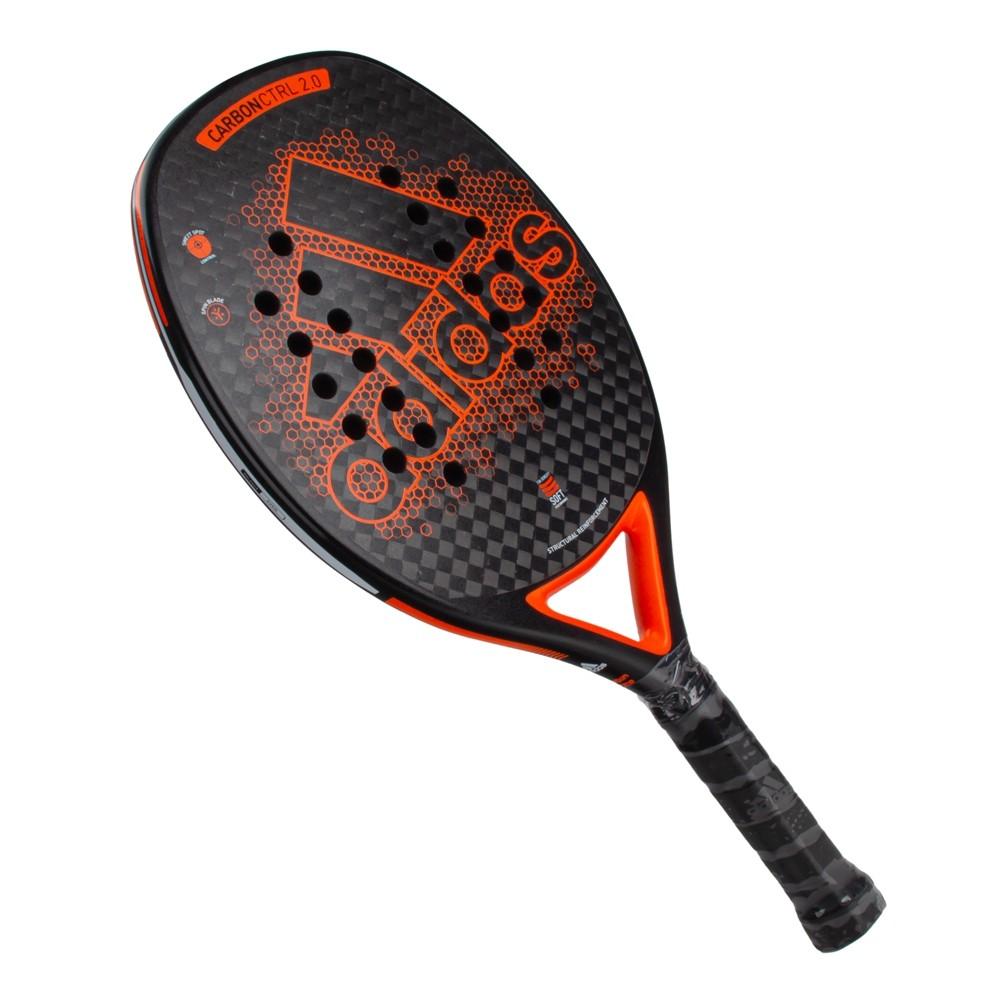Raquete De Beach Tennis Adidas Carbon Ctrl 2.0 Preto Laranja
