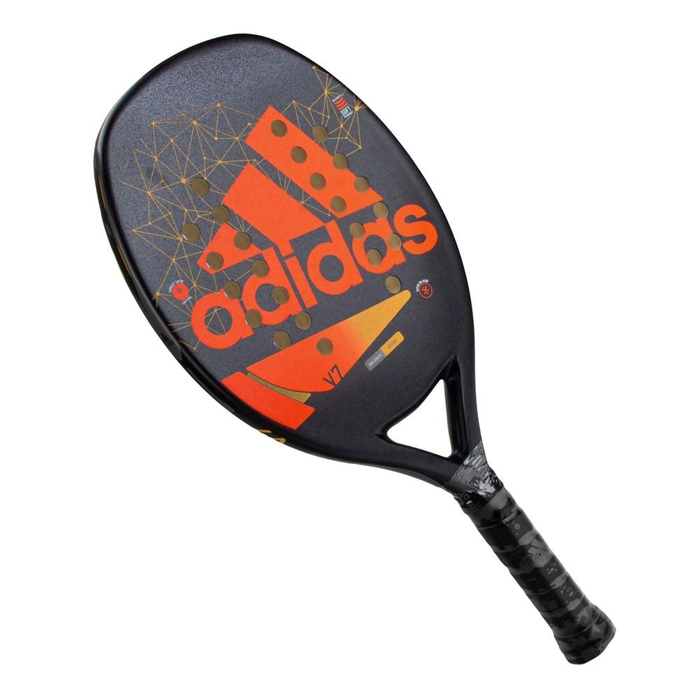 Raquete de Beach Tennis adidas V7 Preto Laranja