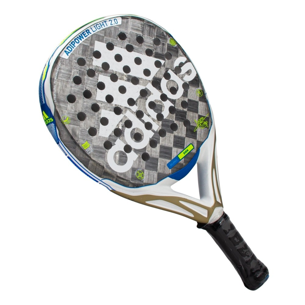 Raquete De Padel Adidas Adipower Light 2.0 Branco Azul