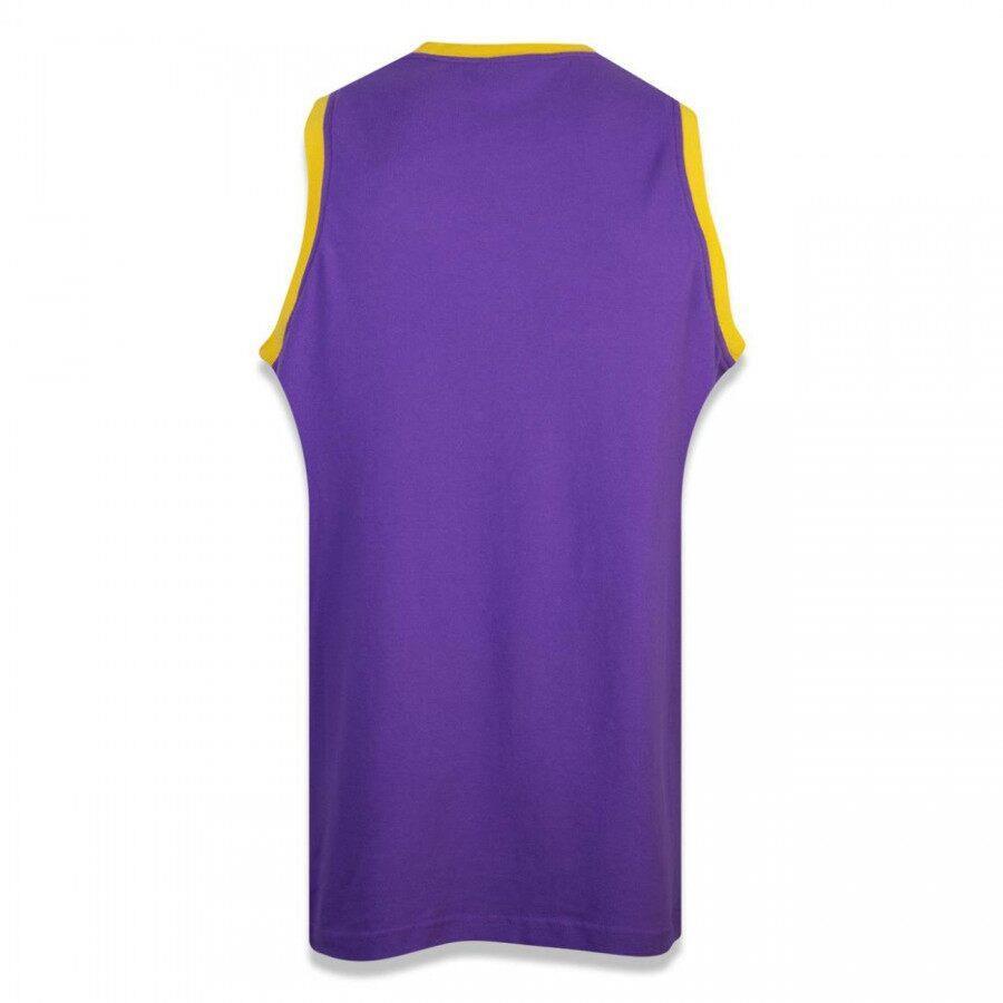 Regata Jersey NBA Los Angeles Lakers Sport Basketball Masculina Roxa New Era