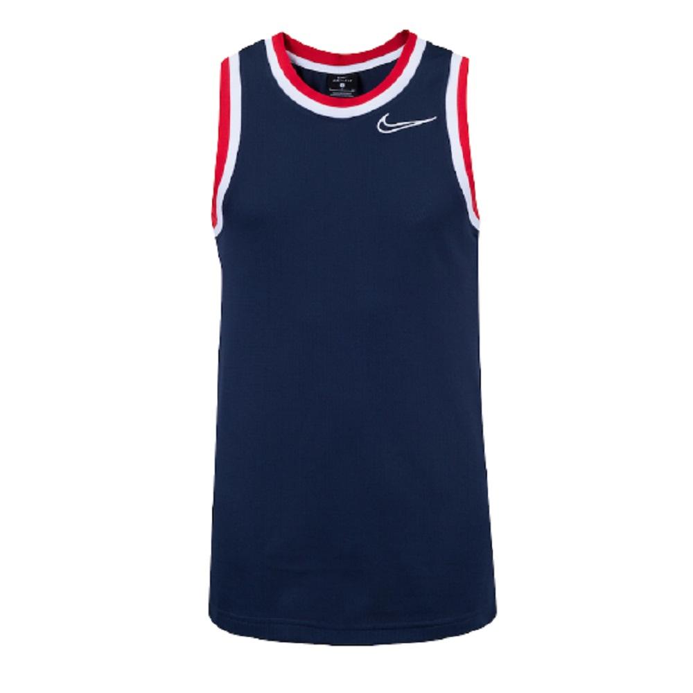 Regata Nike Classic Jersey Dri Fit Masculino Azul Vermelho
