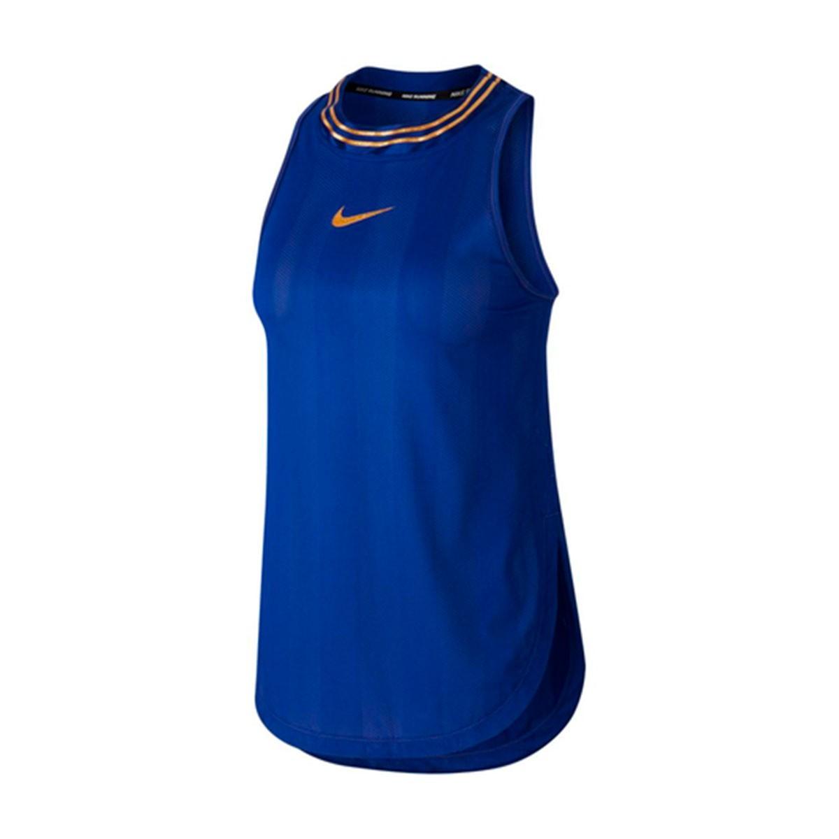 Regata Nike Tank Glam Feminino Azul
