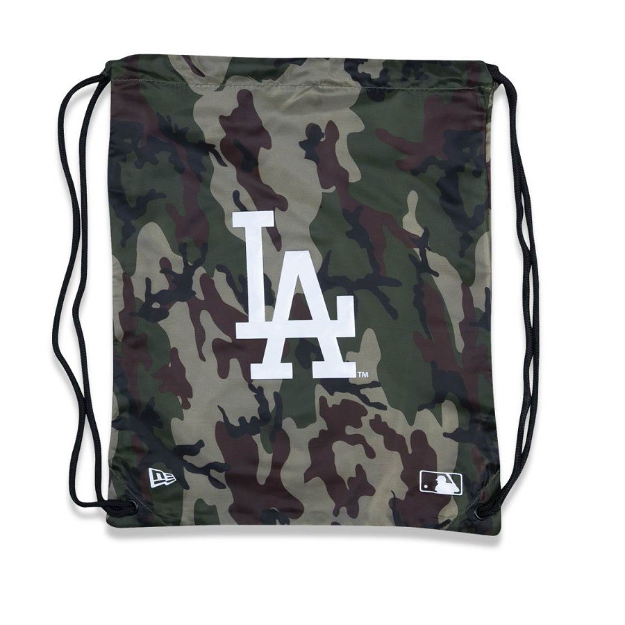 Sacola de Academia MLB Los Angeles Dodgers Camuflada Verde New Era