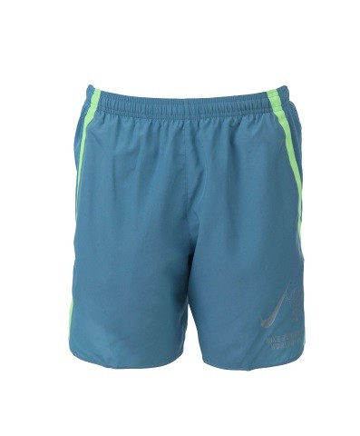 Short Nike Challenger Wild Run 7in Masculino Azul Petróleo e Verde