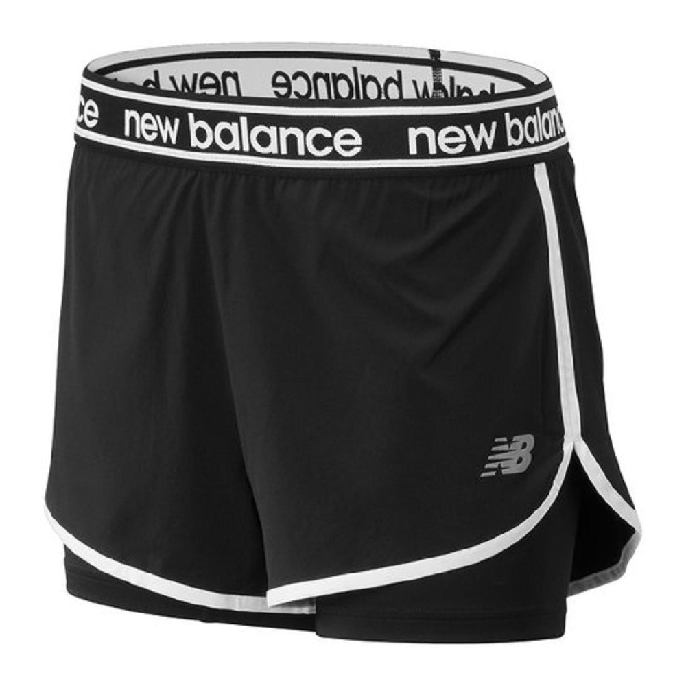 Shorts New Balance Relentless 2in1 Feminino Preto