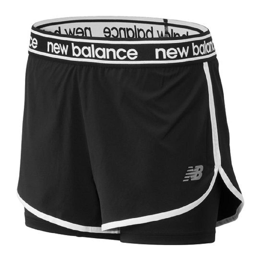 Shorts New Balance Relentless 2in1 Feminino Preto