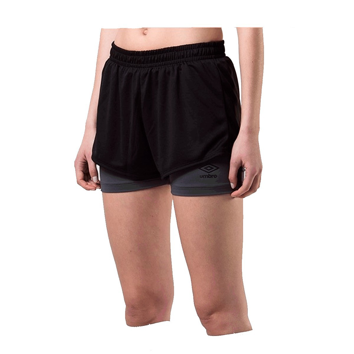 Shorts Umbro Twr Double New Feminino Preto