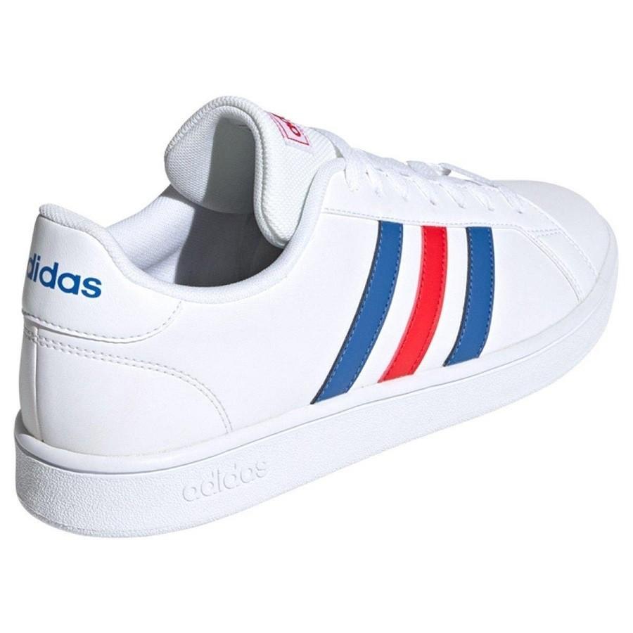 Tênis Adidas Grand Court Base Masculino Branco Azul