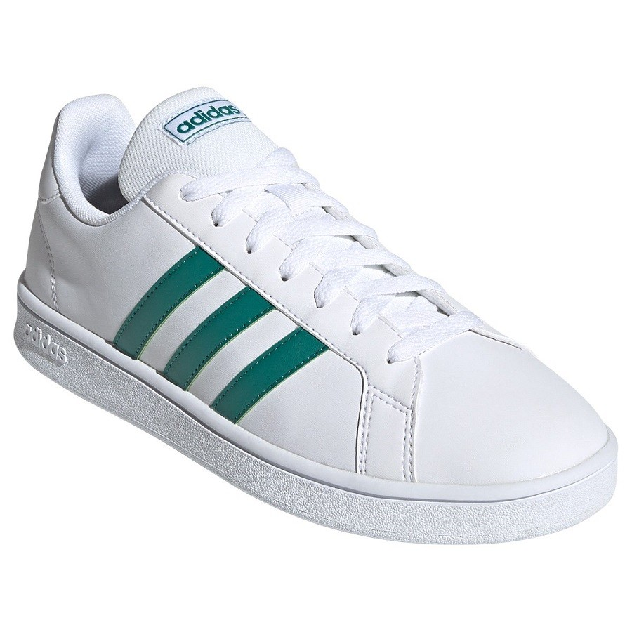 Tênis Adidas Grand Court Base Masculino Branco Verde
