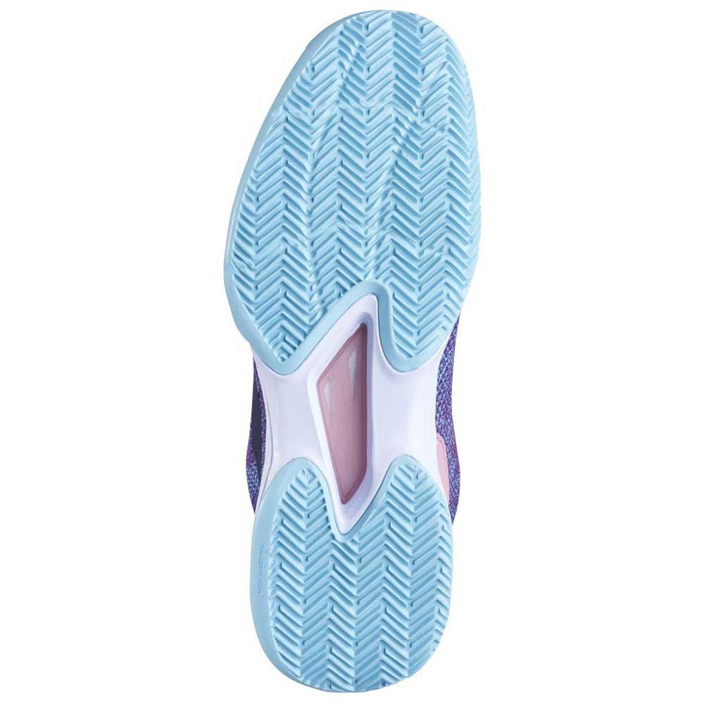 Tênis Babolat Jet Tere Clay Court Feminino Azul Rosa