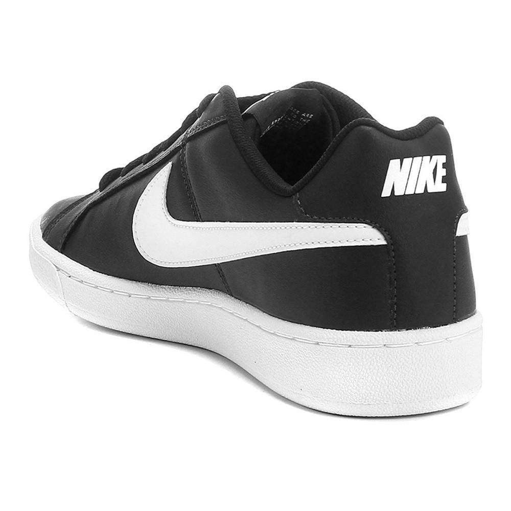 Tênis Couro Nike Court Royale Masculino Preto Branco