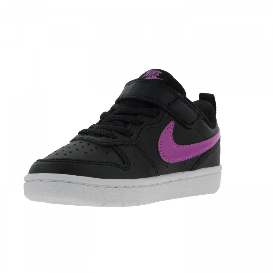 Tênis Infantil Nike Court Borough Low 2 PSV Preto Roxo