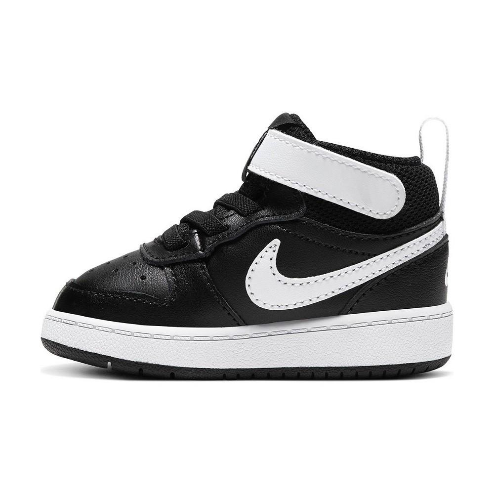 Tênis Infantil Nike Court Borough Mid 2 Tdv Preto Branco