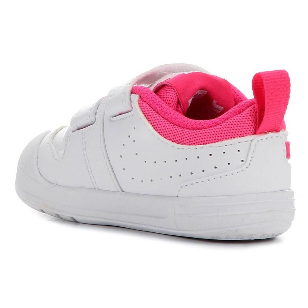 Tênis Infantil Nike Pico 5 Velcro Branco Rosa