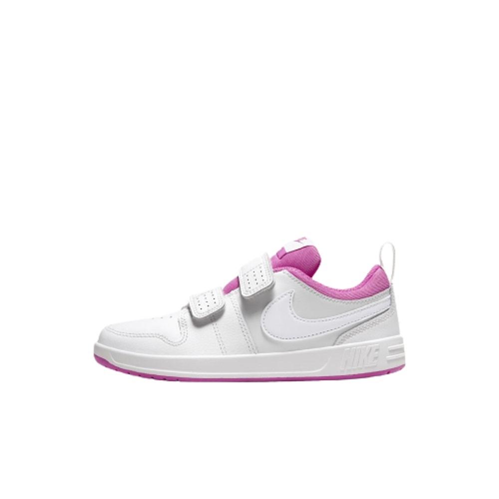 Tênis Infantil Nike Pico 5 Velcro Branco Roxo