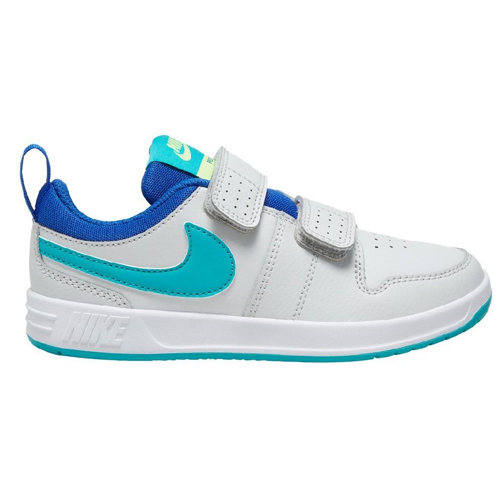 Tênis Infantil Nike Pico 5 Velcro PSV Branco Azul