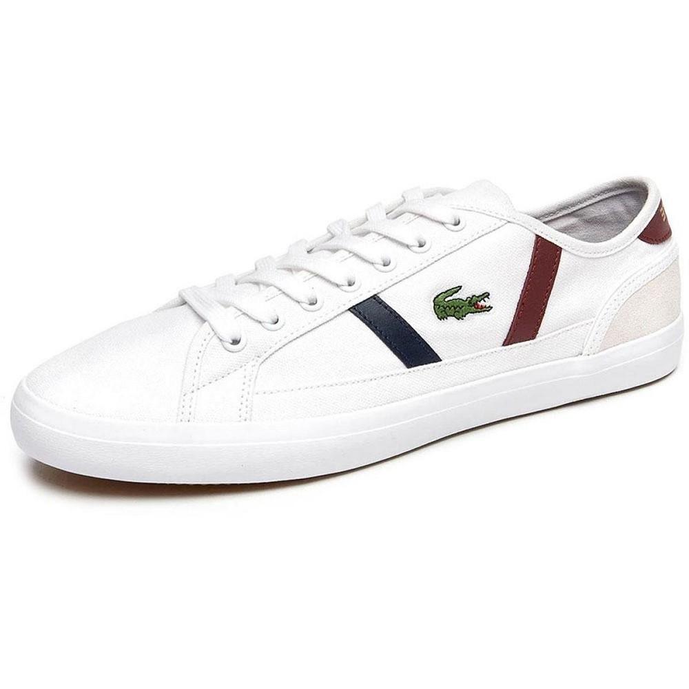 Tênis Lacoste Sideline Masculino Branco Vermelho