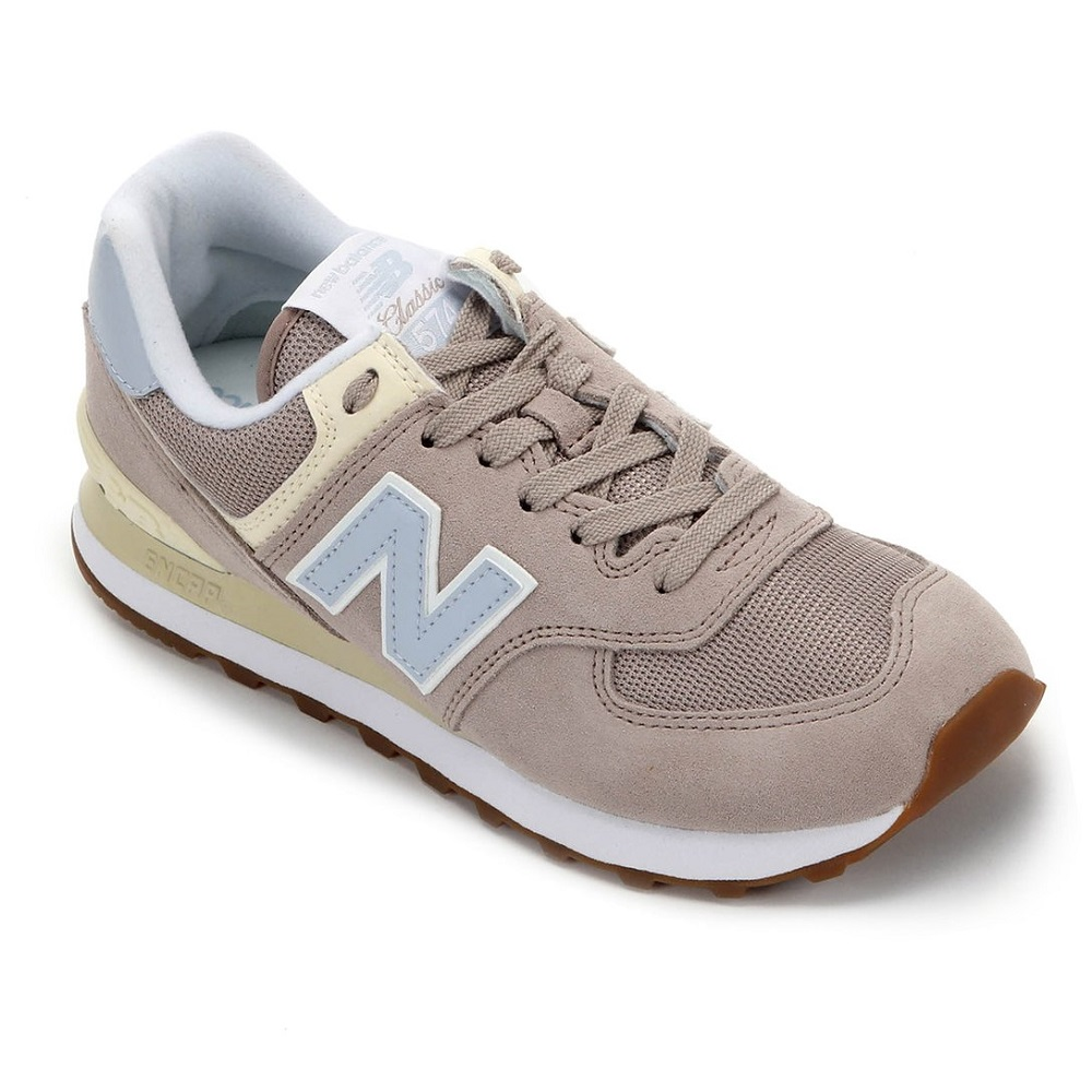 Tênis New Balance 574 Classic Casual Feminino Bege