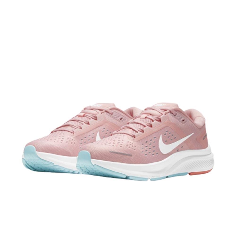Tênis Nike Air Zoom Structure 23 Feminino Rosa Azul Claro