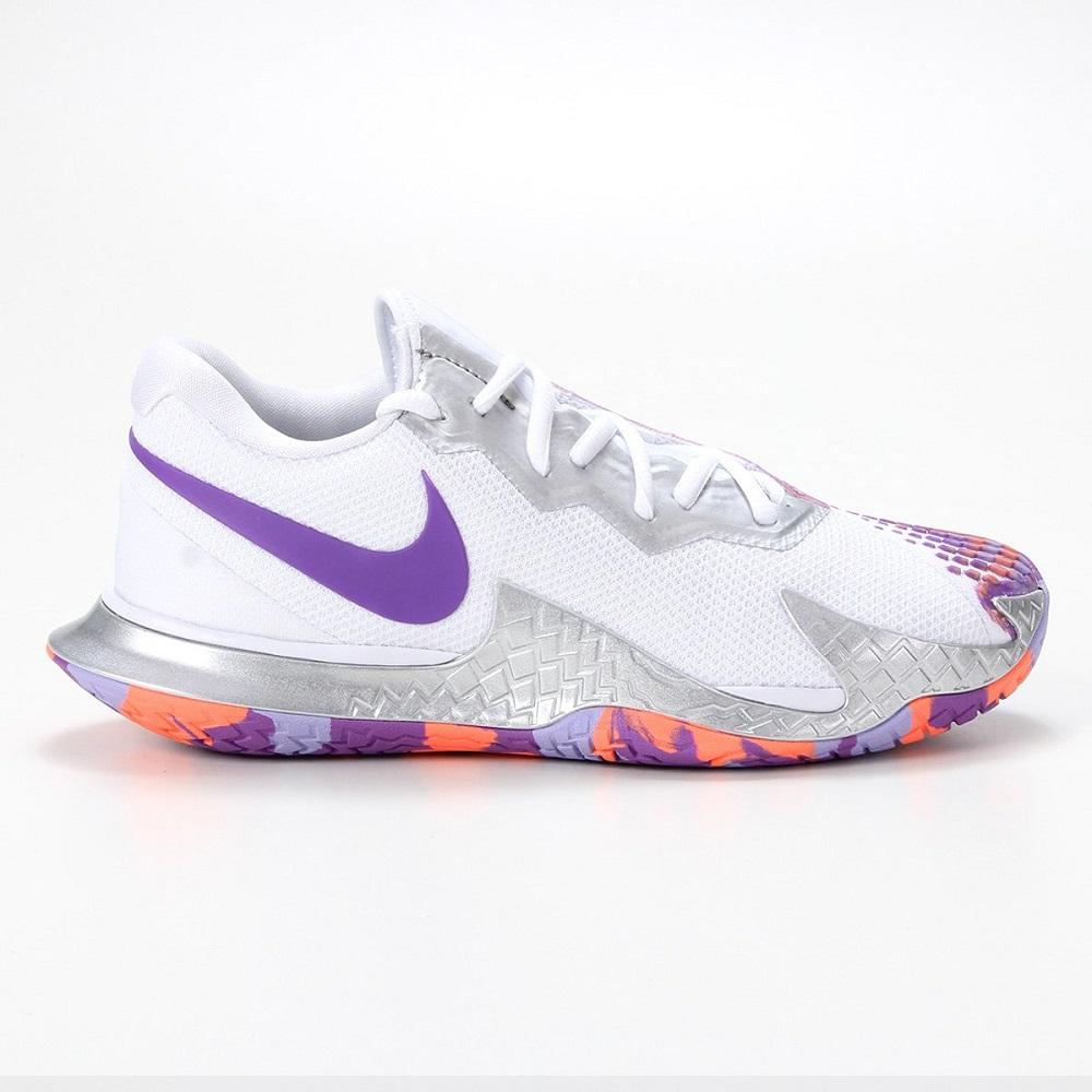 Tênis Nike Air Zoom Vapor Cage 4 HC Feminino Branco Lilás