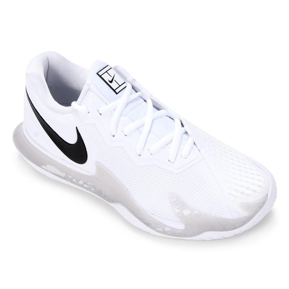 Tênis Nike Air Zoom Vapor Cage 4 HC Masculino Branco Cinza