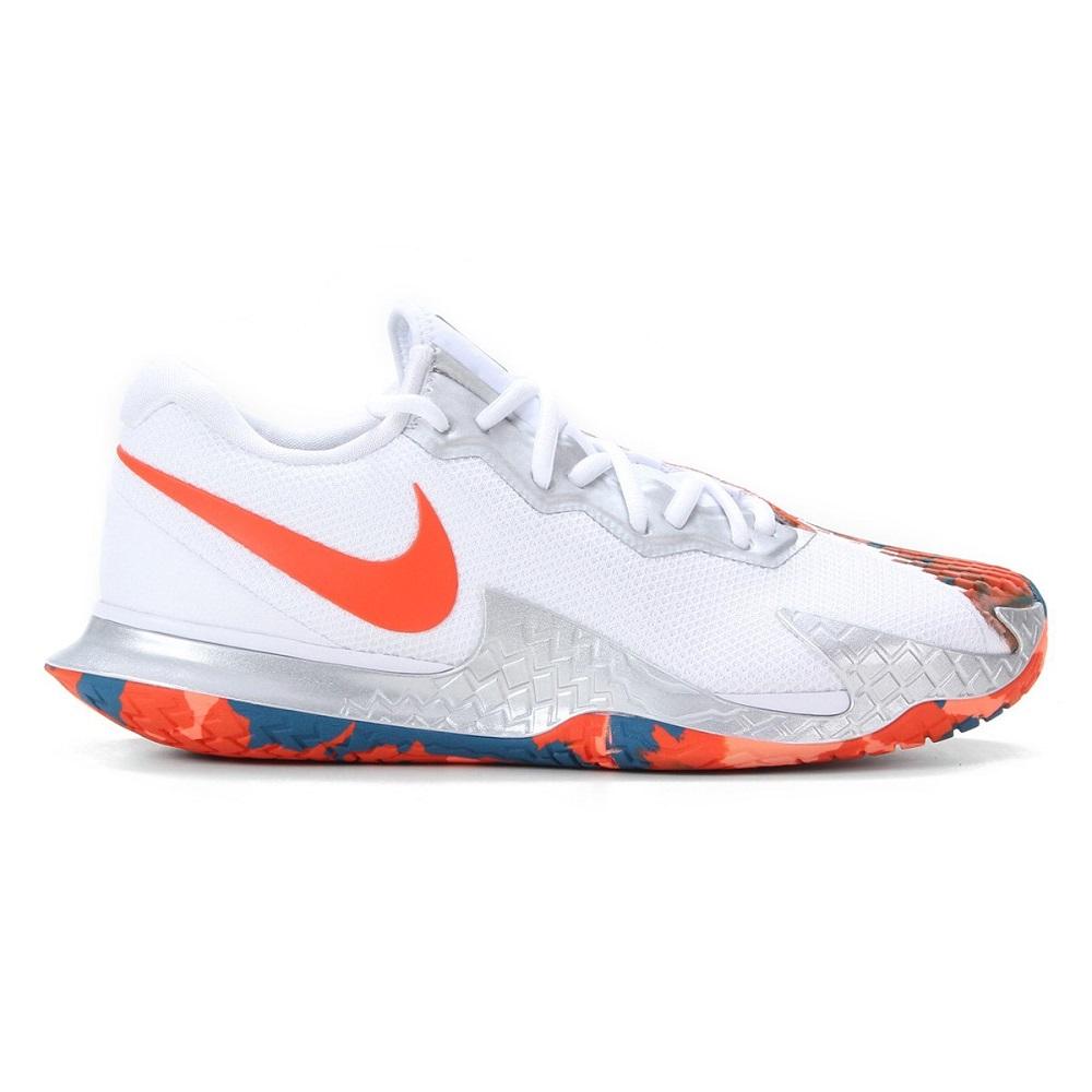 Tênis Nike Air Zoom Vapor Cage 4 HC Masculino Branco Laranja
