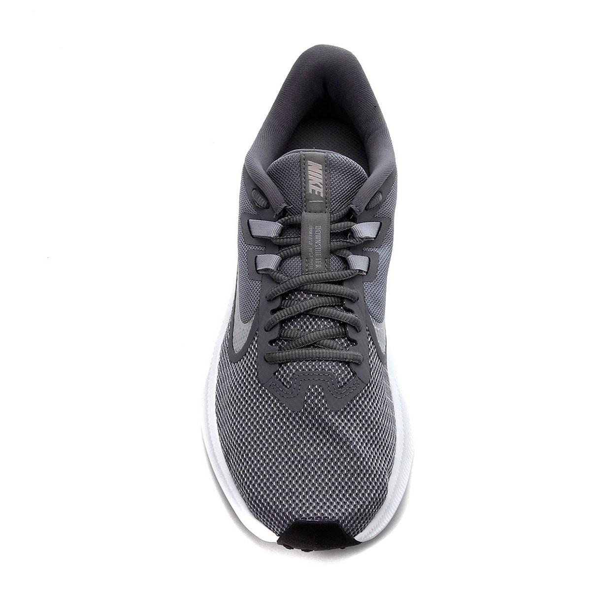 Tênis Nike Downshifter 9 Cinza Prata