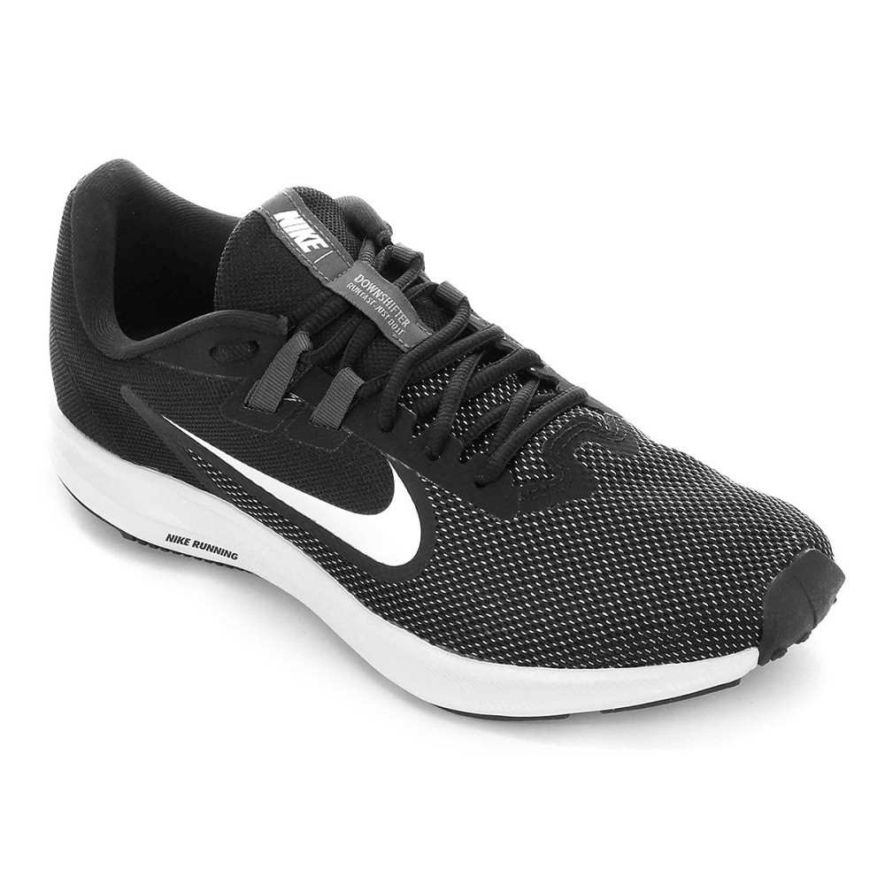 Tênis Nike Downshifter 9 Masculino Preto Branco