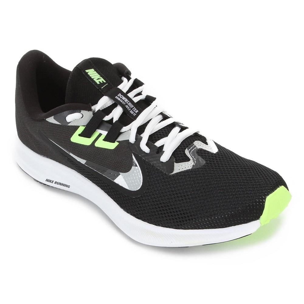 Tênis Nike Downshifter 9 Masculino Preto Verde