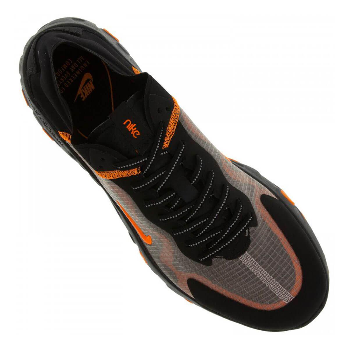 Tênis Nike Explore Renew Lucent Preto Laranja