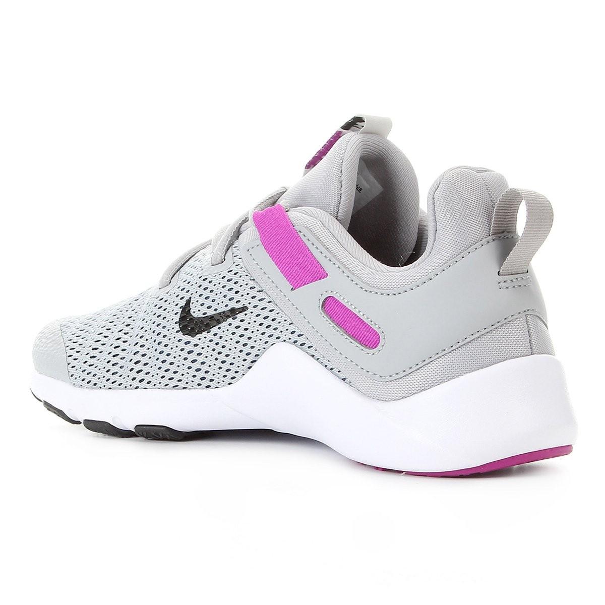 Tênis Nike Legend Essential Feminino - Cinza e Rosa