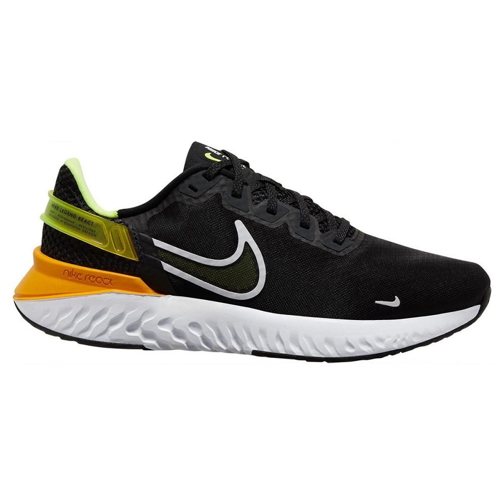 Tênis Nike Legend React 3  Masculino Preto Laranja