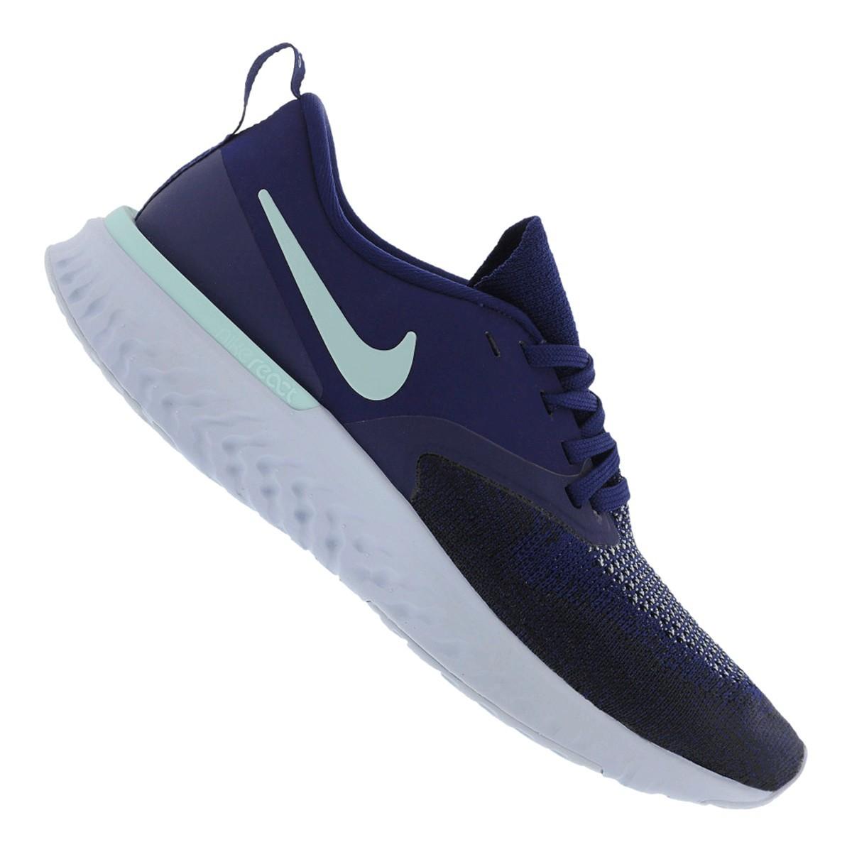 Tênis Nike Odyssey React 2 Flyknit Feminino Azul