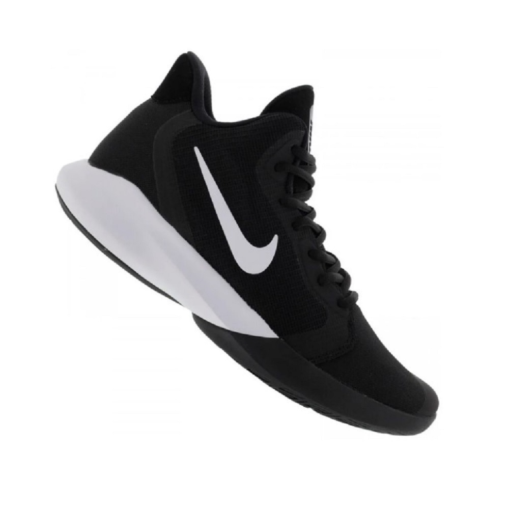 Tênis Nike Precision III Masculino Preto Branco