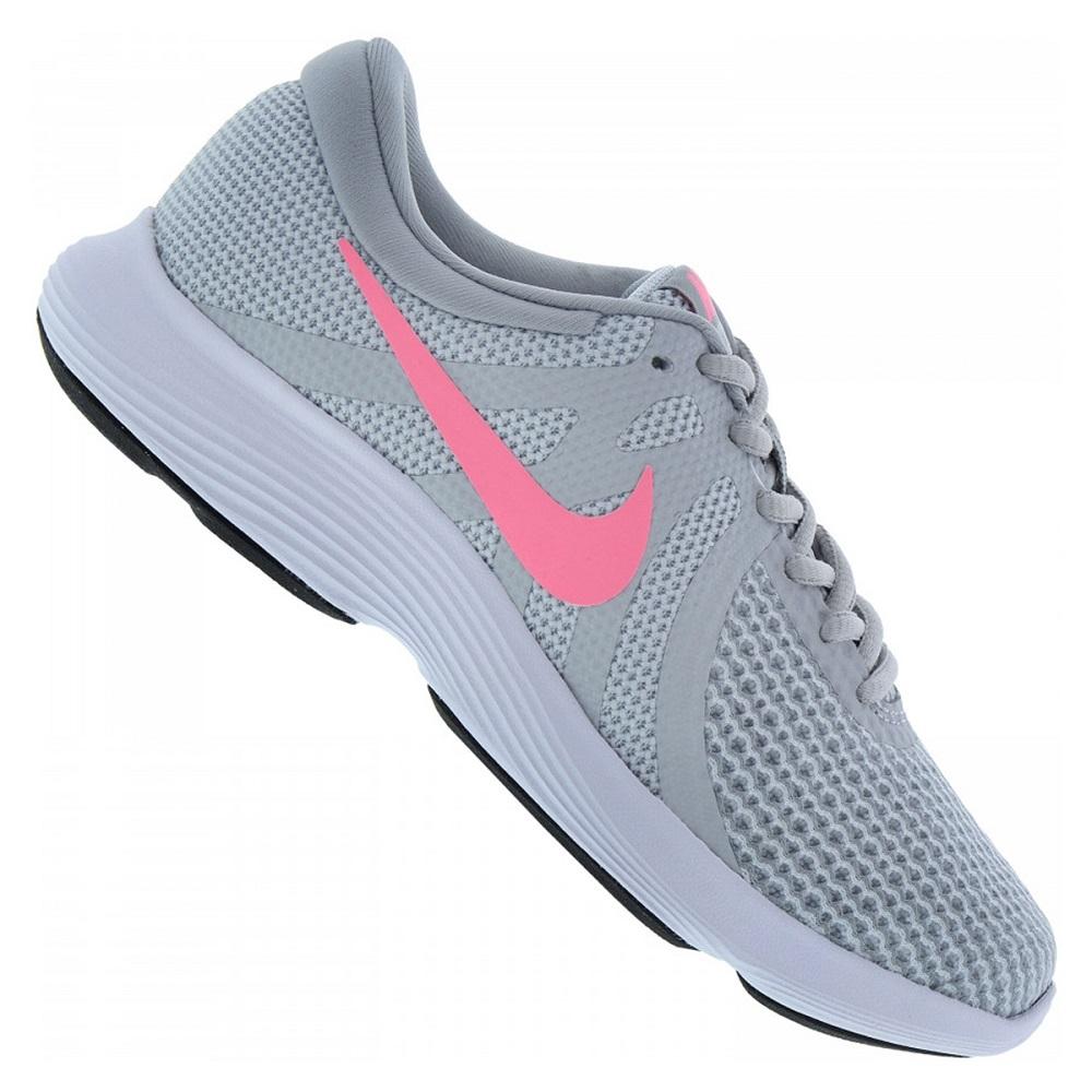 Tenis Nike Revolution 4 - Cinza - Feminino