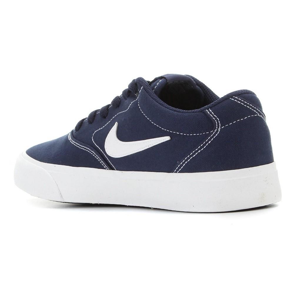 Tênis Nike SB Charge Canvas Masculino Azul Branco