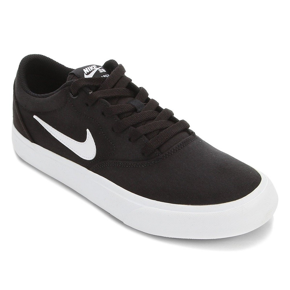 Tênis Nike SB Charge Canvas Masculino Preto Branco