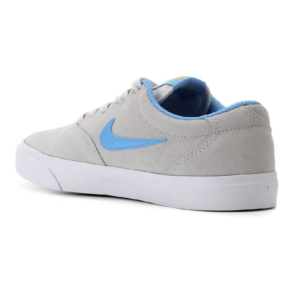 Tênis Nike SB Charge Suede Masculino Cinza Azul