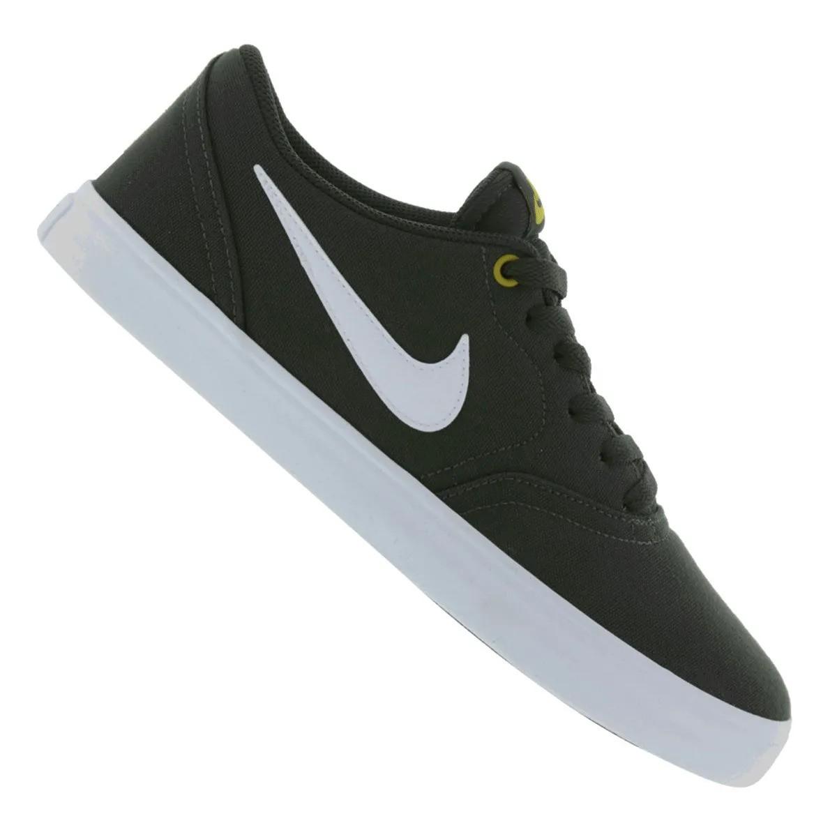 Tênis Nike SB Check Solar Canvas Verde Branco