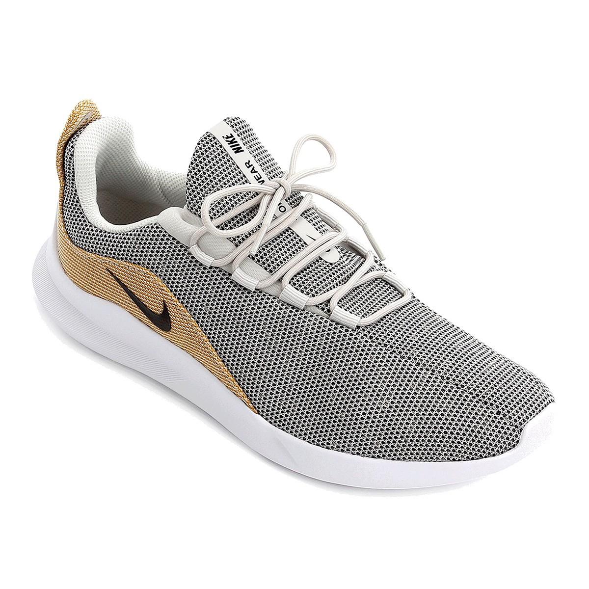 Tênis Nike Viale Premium Masculino Cinza Dourado