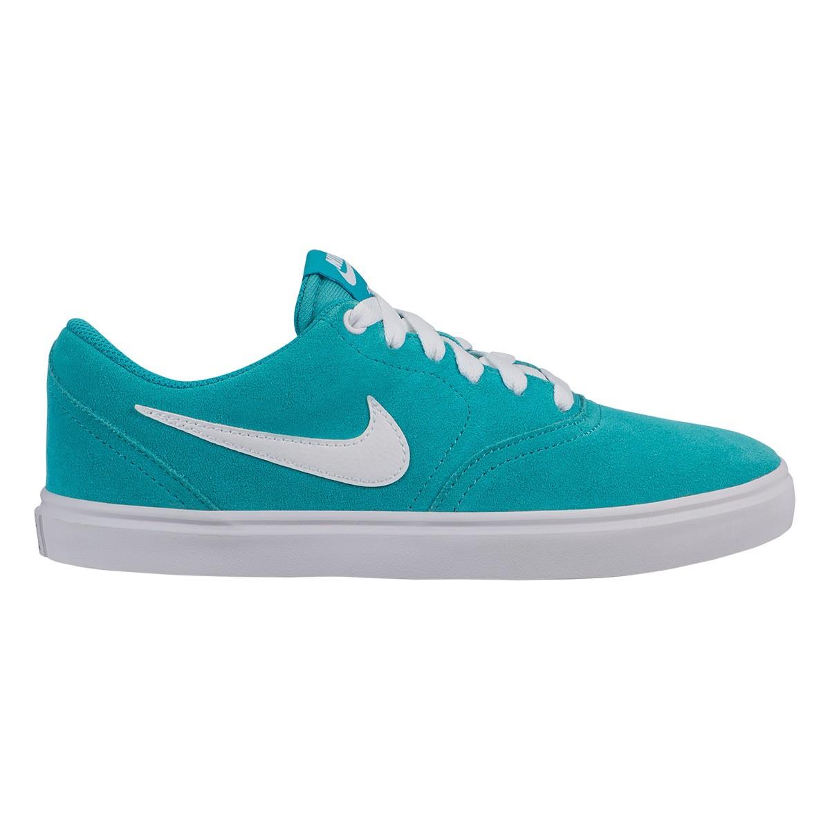 Tênis Nike Wmns Sb Check Solar Feminino - Azul Piscina e Branco