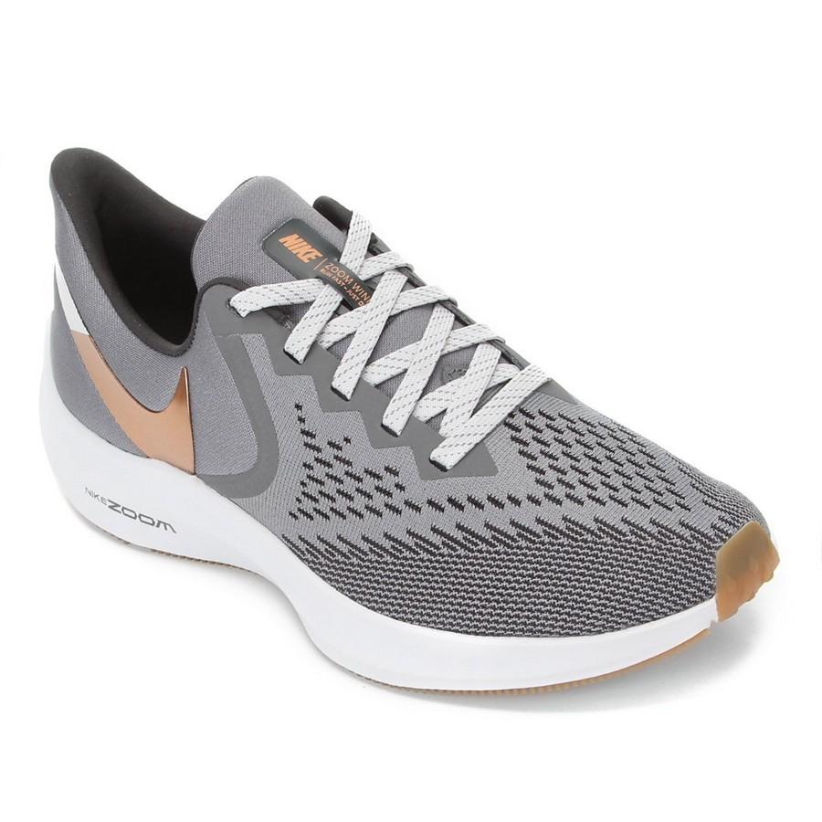 Tênis Nike Zoom Winflo 6 Masculino Cinza Dourado