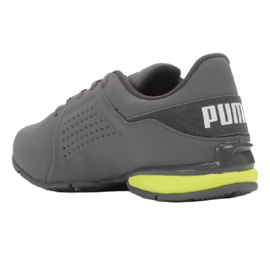 Tênis Puma Runner BDP Masculino Cinza Amarelo