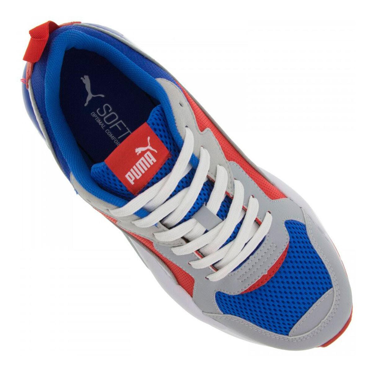 Tênis Puma X-Ray BDP  Masculino - Azul e Vermelho